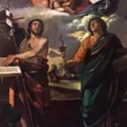 The Virgin Appearing To Saints John The Baptist And John The Evangelist 1520 Art Print