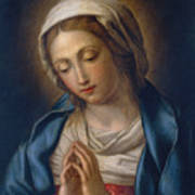 The Virgin At Prayer Art Print