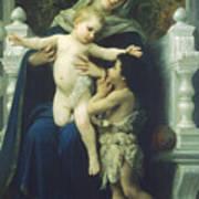 The Virgin Baby Jesus And Saint John The Baptist Art Print