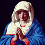 The Virgin In Prayer Art Print by Il Sassoferrato