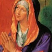 The Virgin Mary In Prayer Art Print