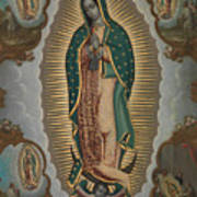 The Virgin Of Guadalupe With The Four Apparitions Art Print