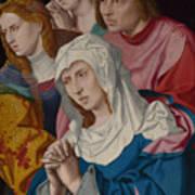 The Virgin Saints And A Holy Woman Art Print