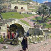 The Virgin Spring In Nazareth Art Print