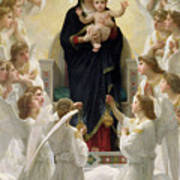 The Virgin With Angels Print by William-Adolphe Bouguereau