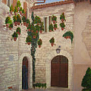 The Visitor In Assisi Art Print