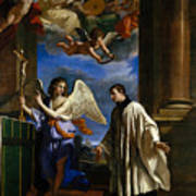 The Vocation Of Saint Aloysius Gonzaga Art Print
