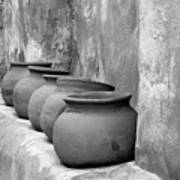 The Wall Of Pots Art Print