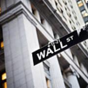 The Wall Street Street Sign Art Print