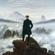 The Wanderer Above The Sea Of Fog Art Print