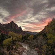The Watchman Sunset Art Print