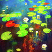 The Water Lily Pond Art Print