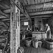 The Way We Were - The Blacksmith 2 Bw Art Print