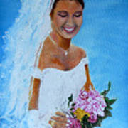 the wedding day of my daughter Daniela Art Print