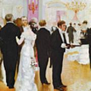 The Wedding Reception Print by Jean Beraud