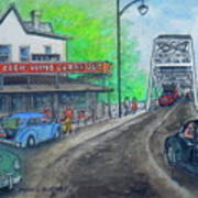 The West End Carryout At The Bridge Art Print