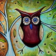 The Whimsical Owl Art Print