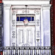 The White Balcony Art Print