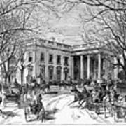 The White House, 1877 Art Print