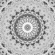 The White Kaleidoscope No. 2 Art Print