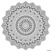 The White Mandala No. 3 Art Print