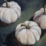 The White Pumpkins Art Print