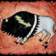 The White Sacred Buffalo Fresco Art Print