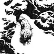 The White Wolf Art Print