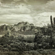 The Wild West Of The Superstitions  Art Print
