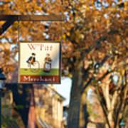 The William Pitt Shop Sign Art Print
