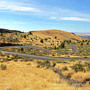 The Winding Road In Central Oregon Art Print