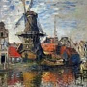 The Windmill Amsterdam Claude Monet 1874 Art Print