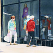 The Window Shoppers Art Print