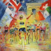 The Winner Of The Tour De France Art Print