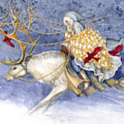 The Winter Changeling Art Print by Janet Chui