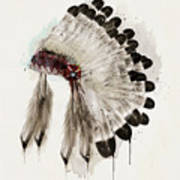 The Winter Headdress Art Print