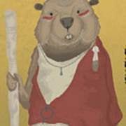 The Wise Beaver Art Print