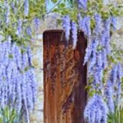 The Wisteria Gate Art Print