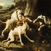 The Wolf Hunt Art Print
