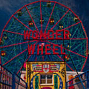 The Wonder Wheel At Luna Park Art Print