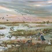 The Wondrous Feathered Things Of The Great Marsh Art Print