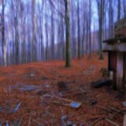 The Wood A La Magritte - Il Bosco A La Magritte Art Print