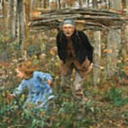 The Wood Gatherer Art Print