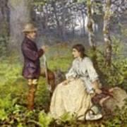 The Woodland Encounter  Art Print