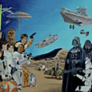 The World Of Star Wars Art Print