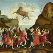The Worship Of The Egyptian Bull God Apis Art Print