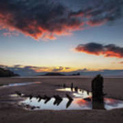 The Wreck Of The Helvetia And Worms Head Art Print