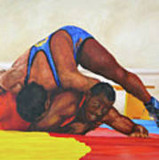 The Wrestlers Art Print