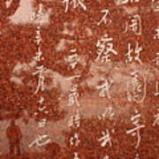 The Writings Of Lu Xun With Reflection Of Man Art Print