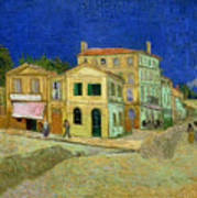 The Yellow House Art Print by Vincent Van Gogh